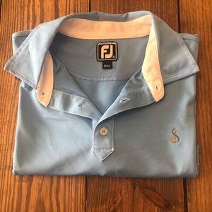 Footjoy sky blue collared men's shirt